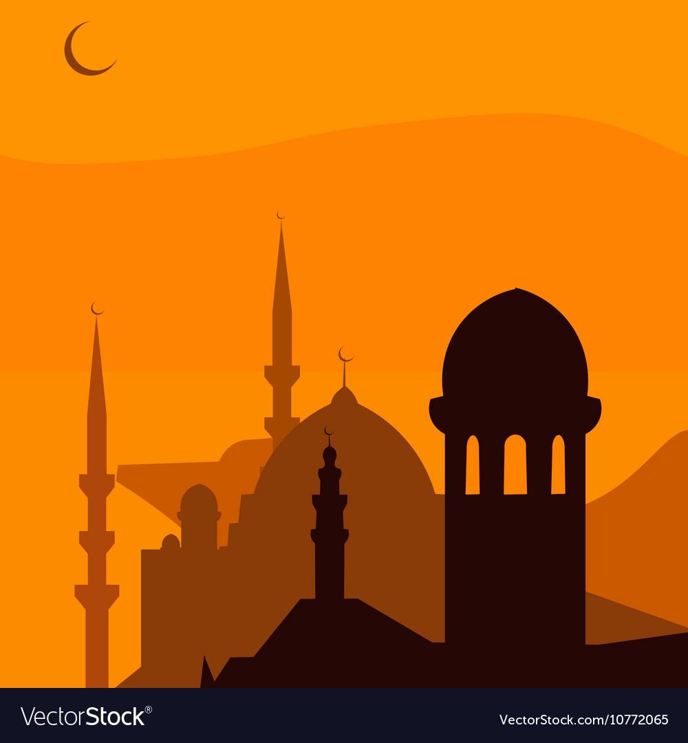 Animated magic Turkish city Istanbul Ramadan