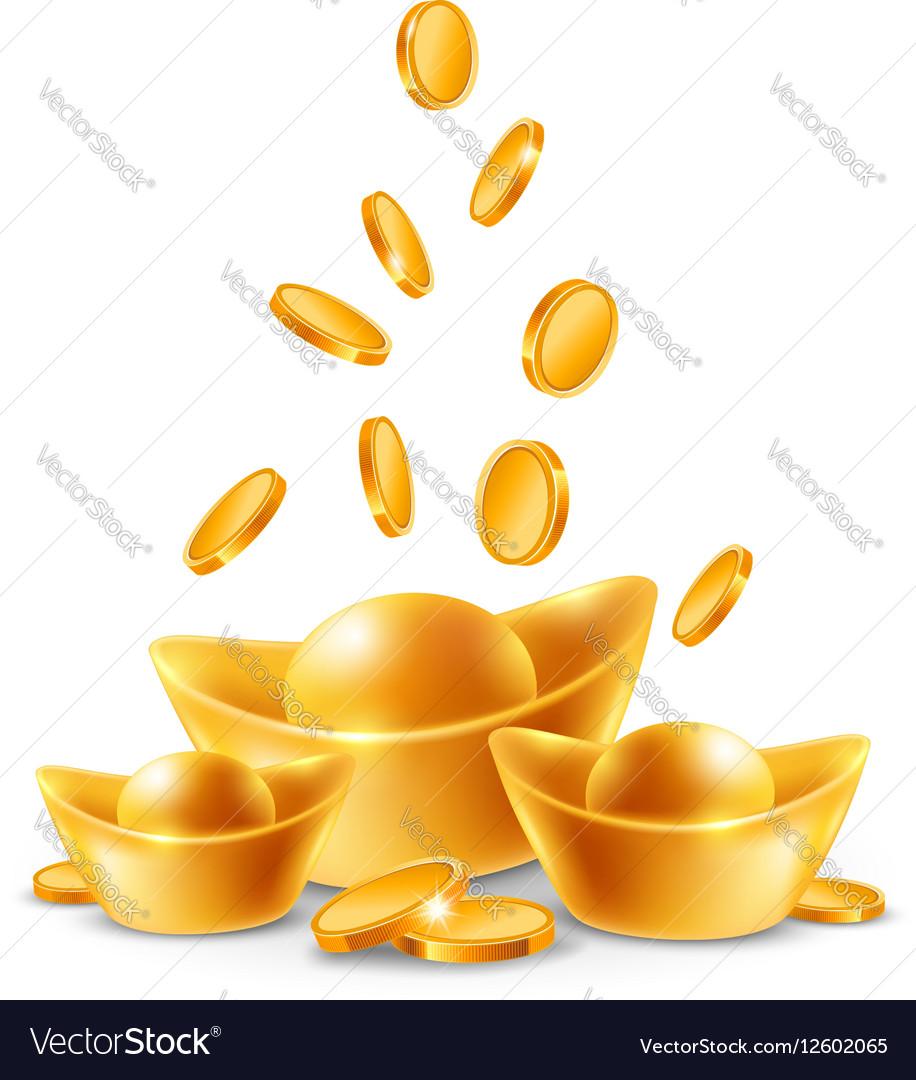 Gold Ingots vector image