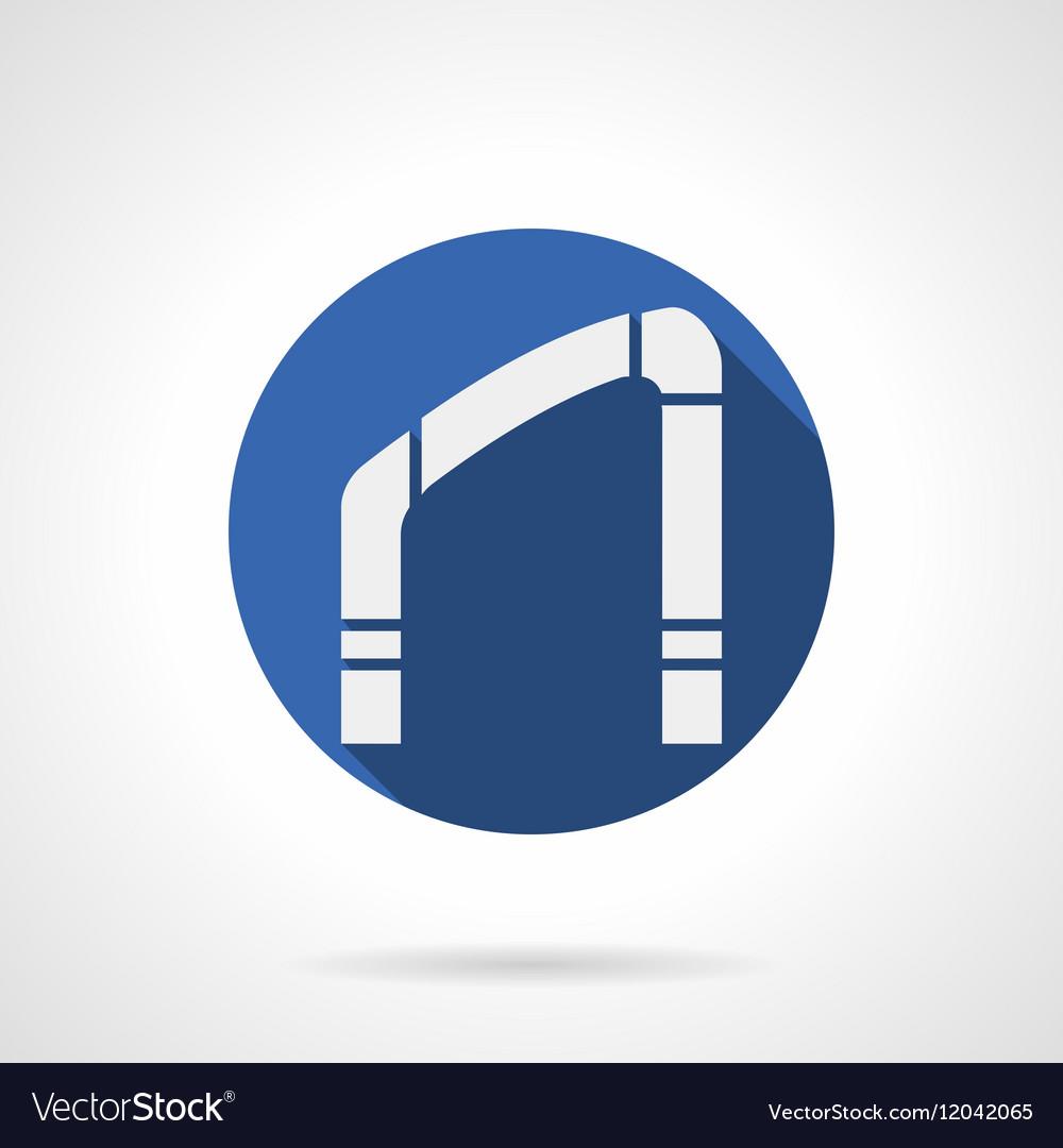 Interior arch element blue round icon