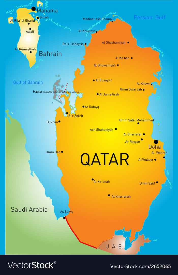 Qatar country Royalty Free Vector Image - VectorStock on