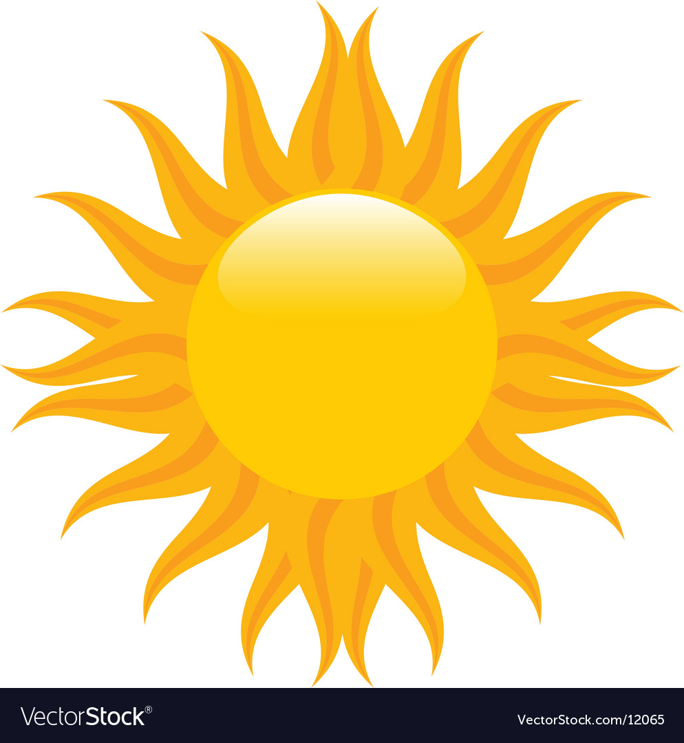 summer sun royalty free vector image vectorstock rh vectorstock com vector sunflower images vector sunflower images