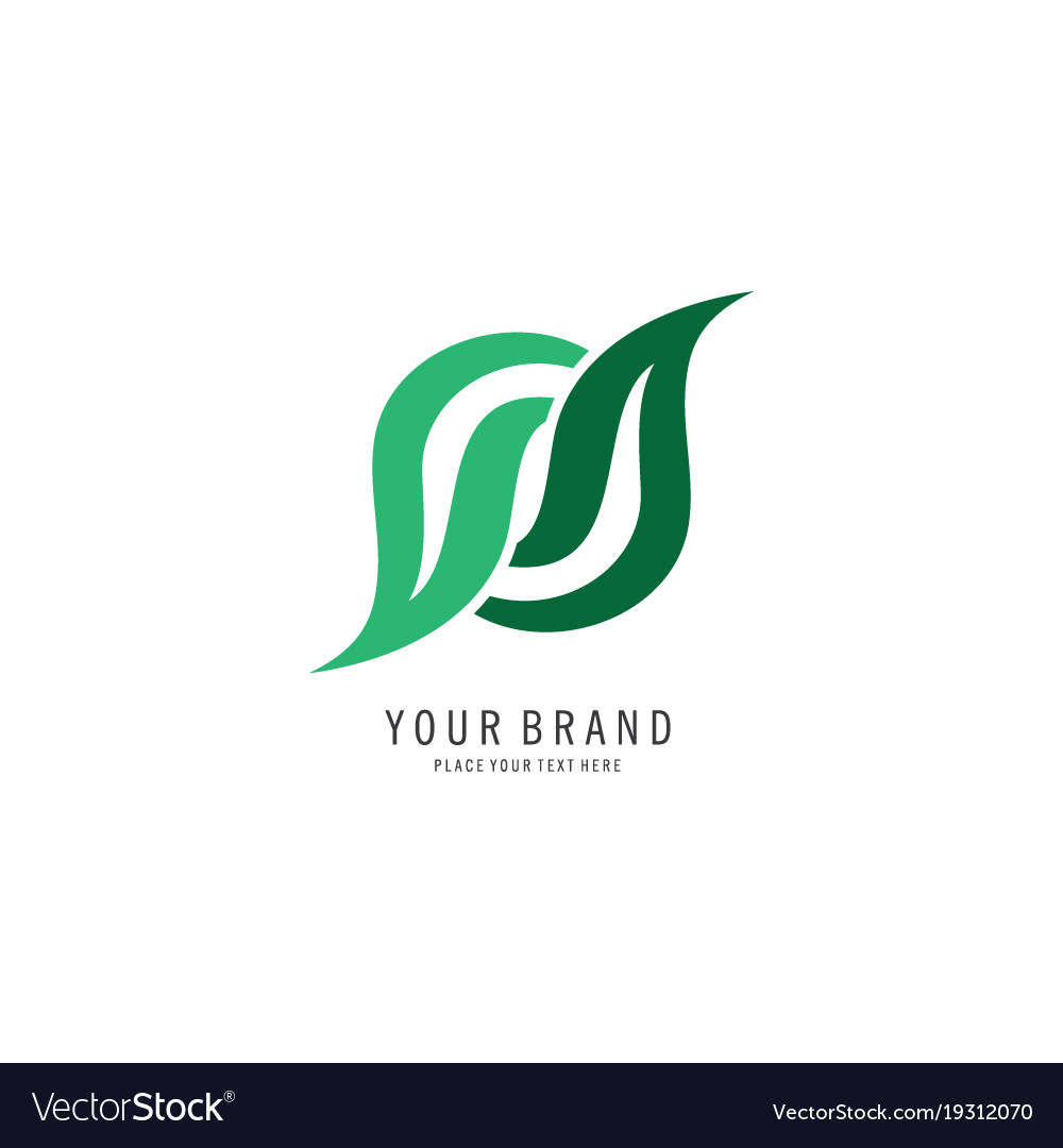 Abstract leaf logo vector image
