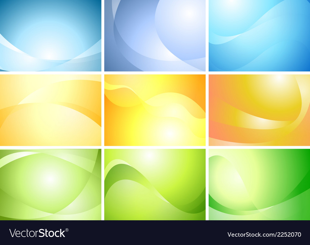Abstract wavy banners set