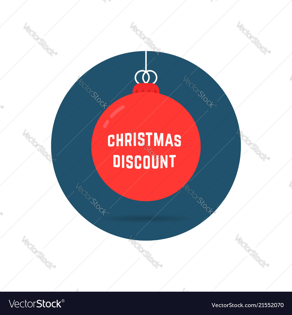 Christmas discount on red tree toy logo