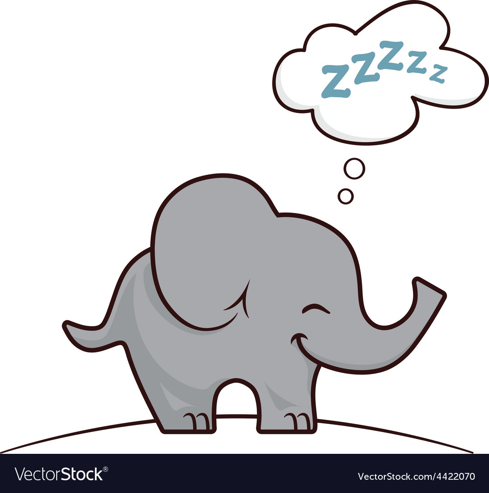 Elephant sleeping Royalty Free Vector Image - VectorStock