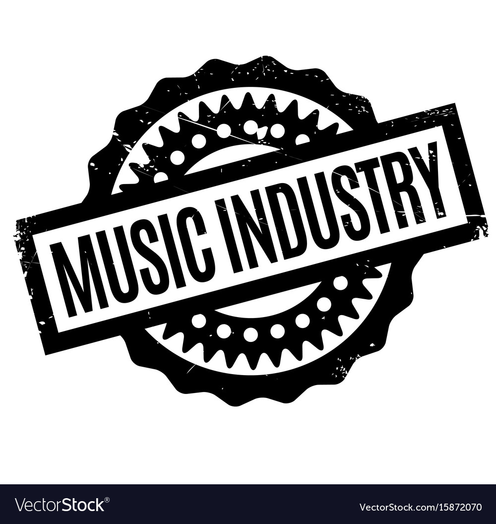 Music Industry Rubber Stamp Vector Image
