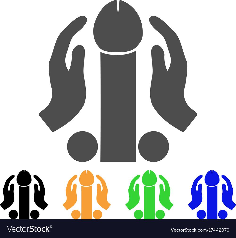 Penis masturbation icon vector image