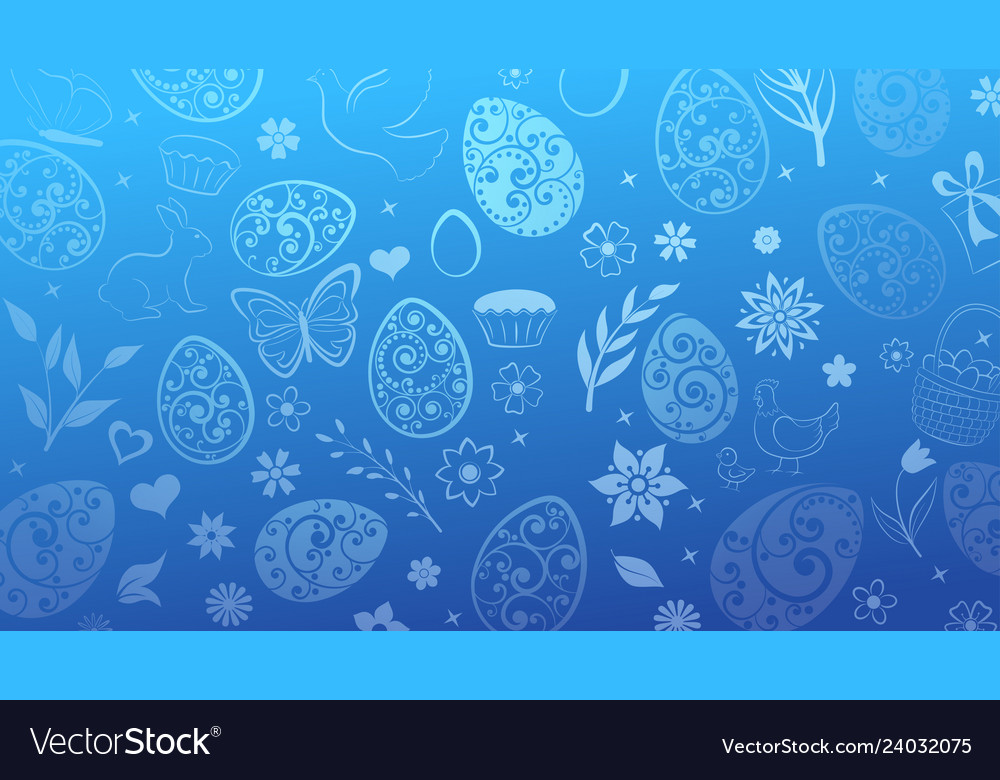 Background easter symbols