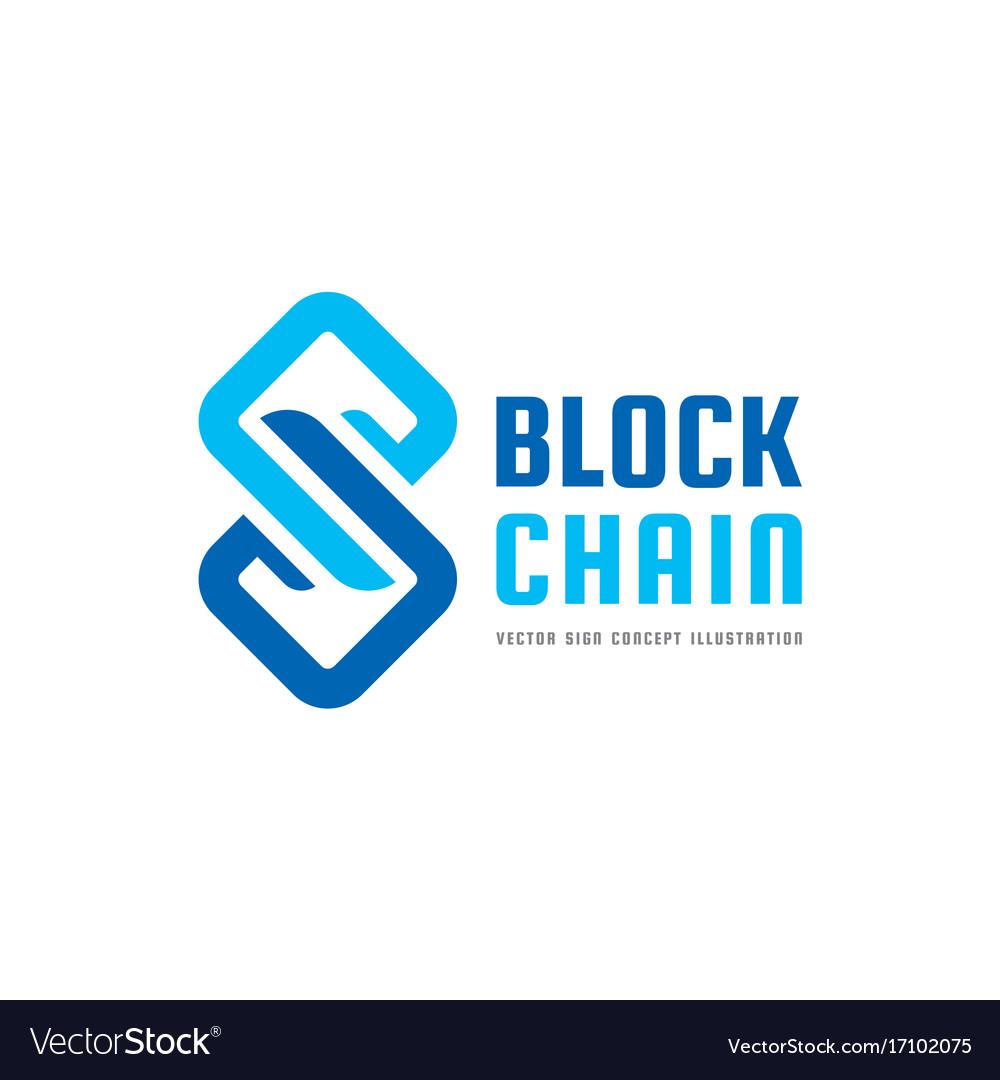 Blockchain technology - logo template Royalty Free Vector