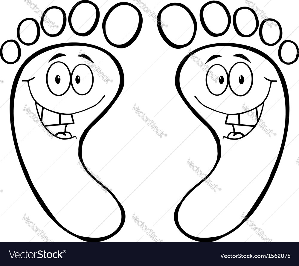 cartoon feet royalty free vector image vectorstock vectorstock
