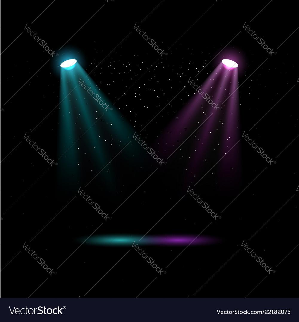 Colored spotlights lights for stage lighting