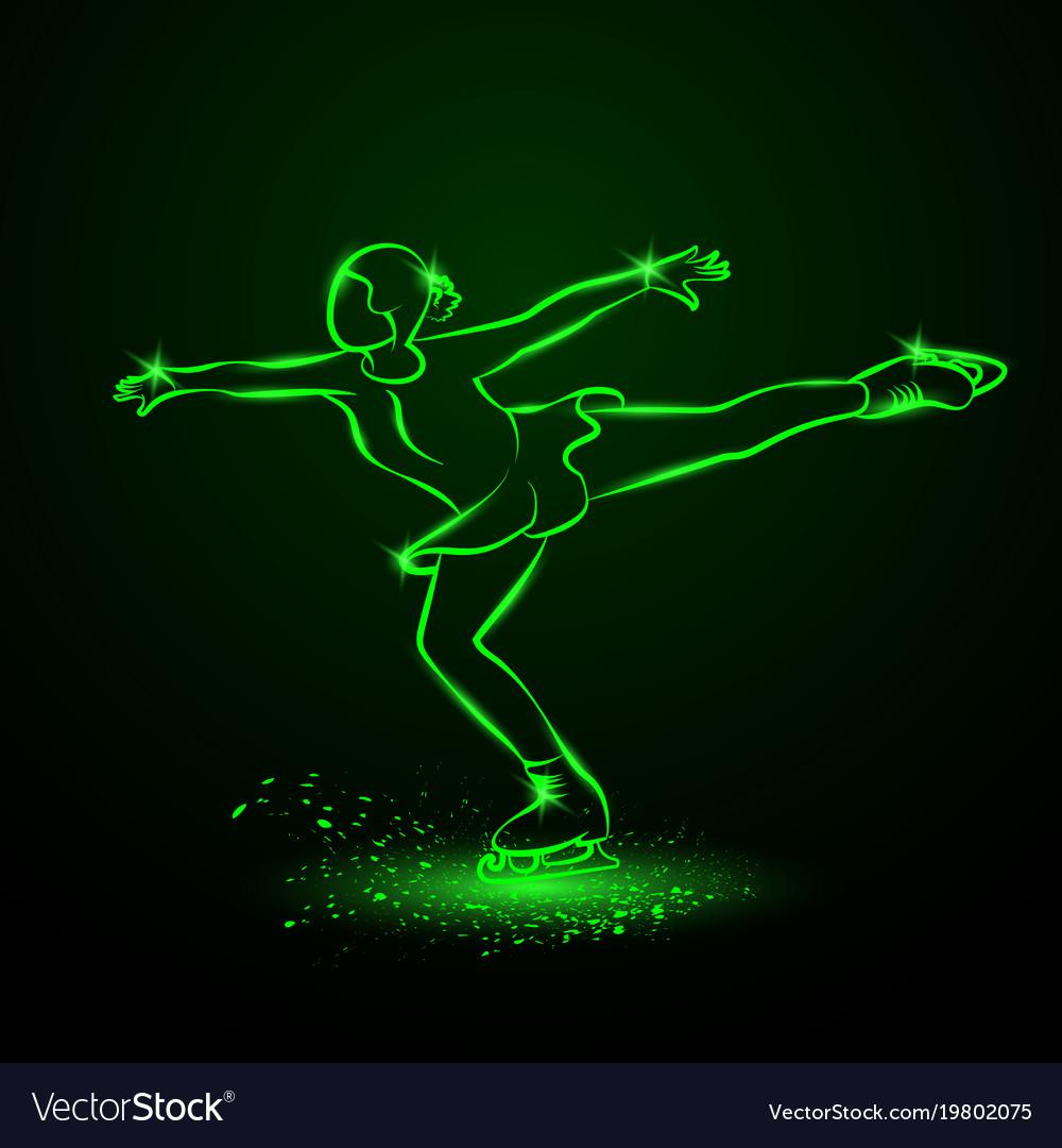 Figure skating neon