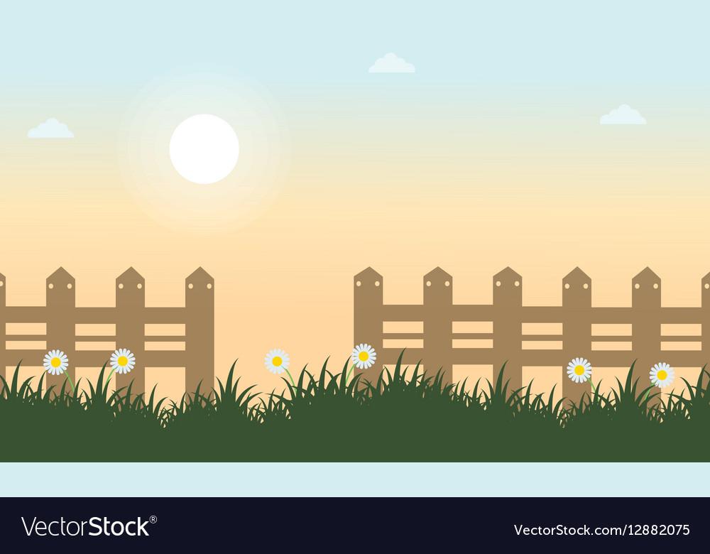 Flat of spring landscape vector image