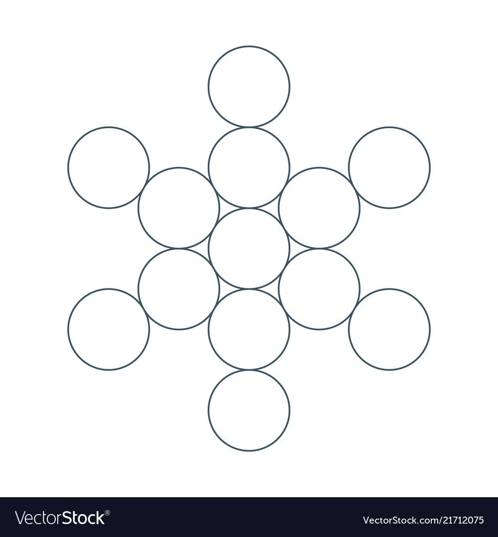 Flower of life sacred geometry symbol of harmony