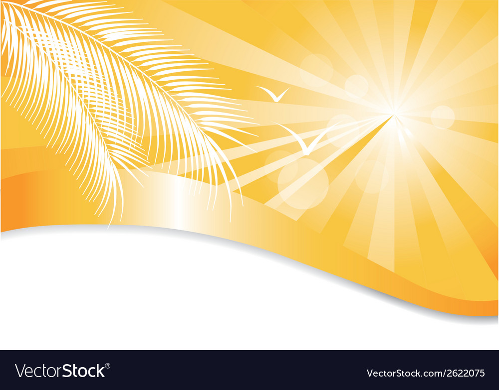 Summer yellow background