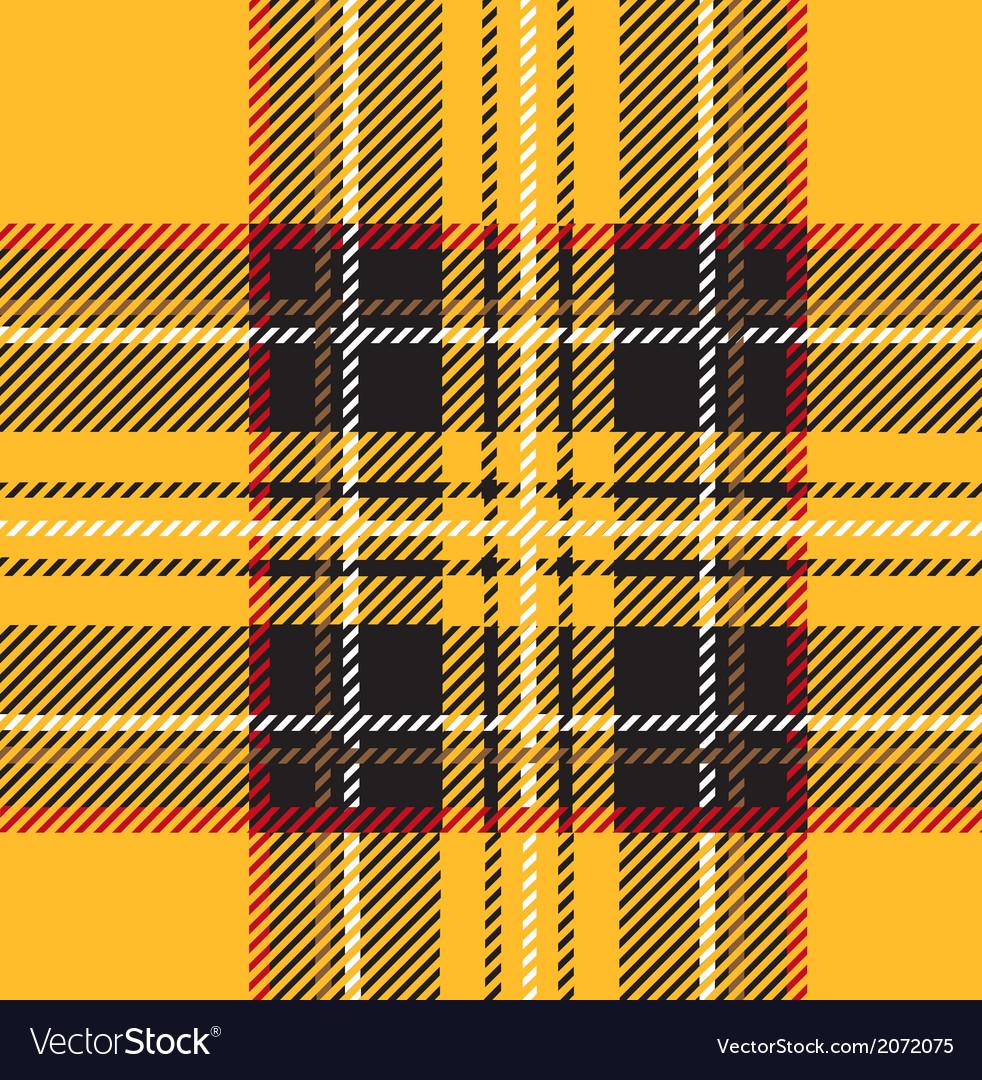 Traditional Seamless Yellow Tartan Pattern vector image