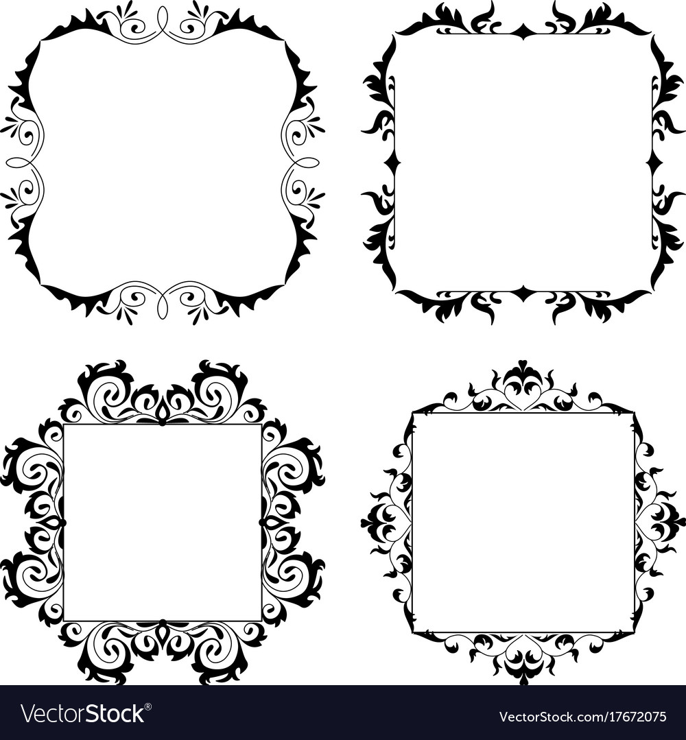 Vintage Style Square Frames Collection
