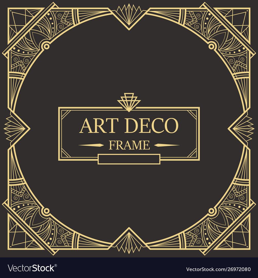 Art deco border and frame 32