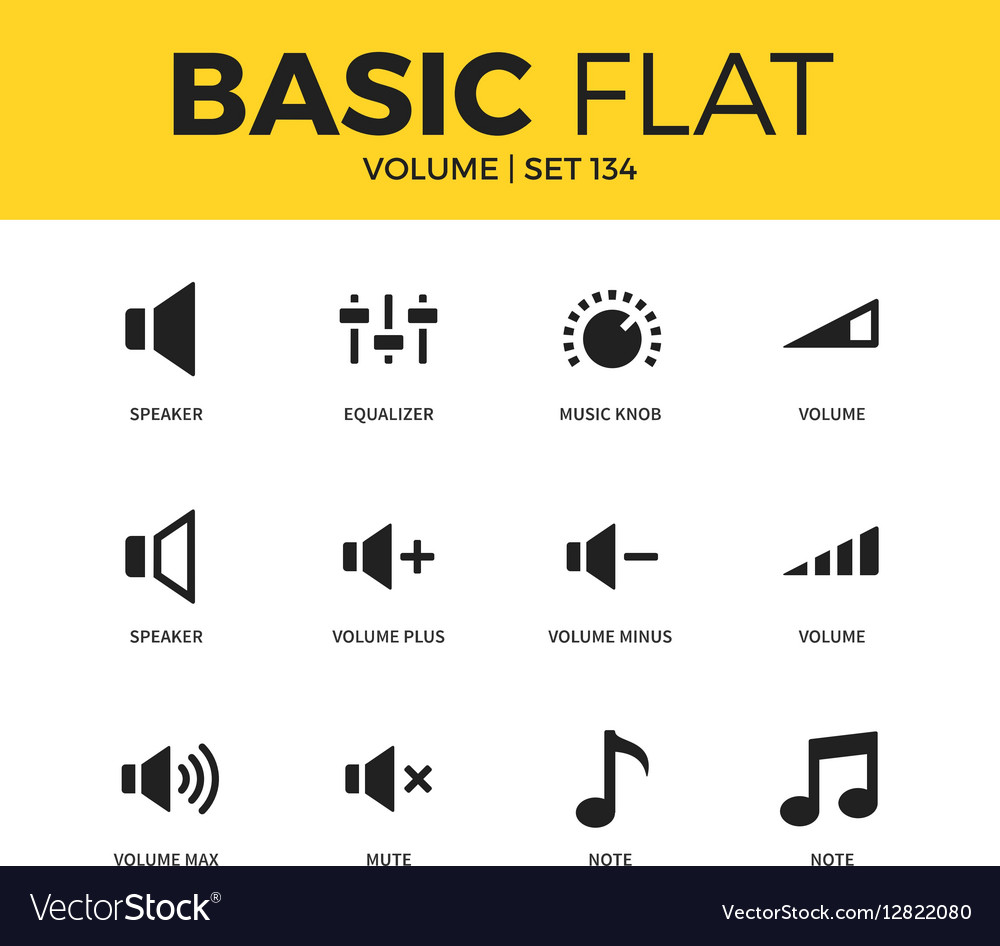 Basic set of icons vector image