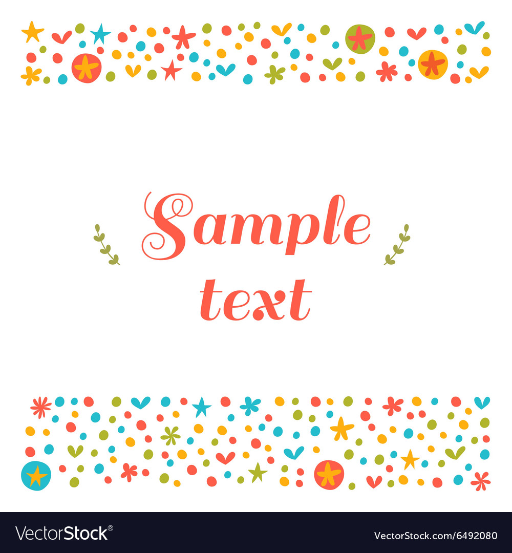 Cute greeting card with floral design elements