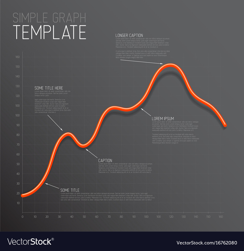 infographic line graph template royalty free vector image