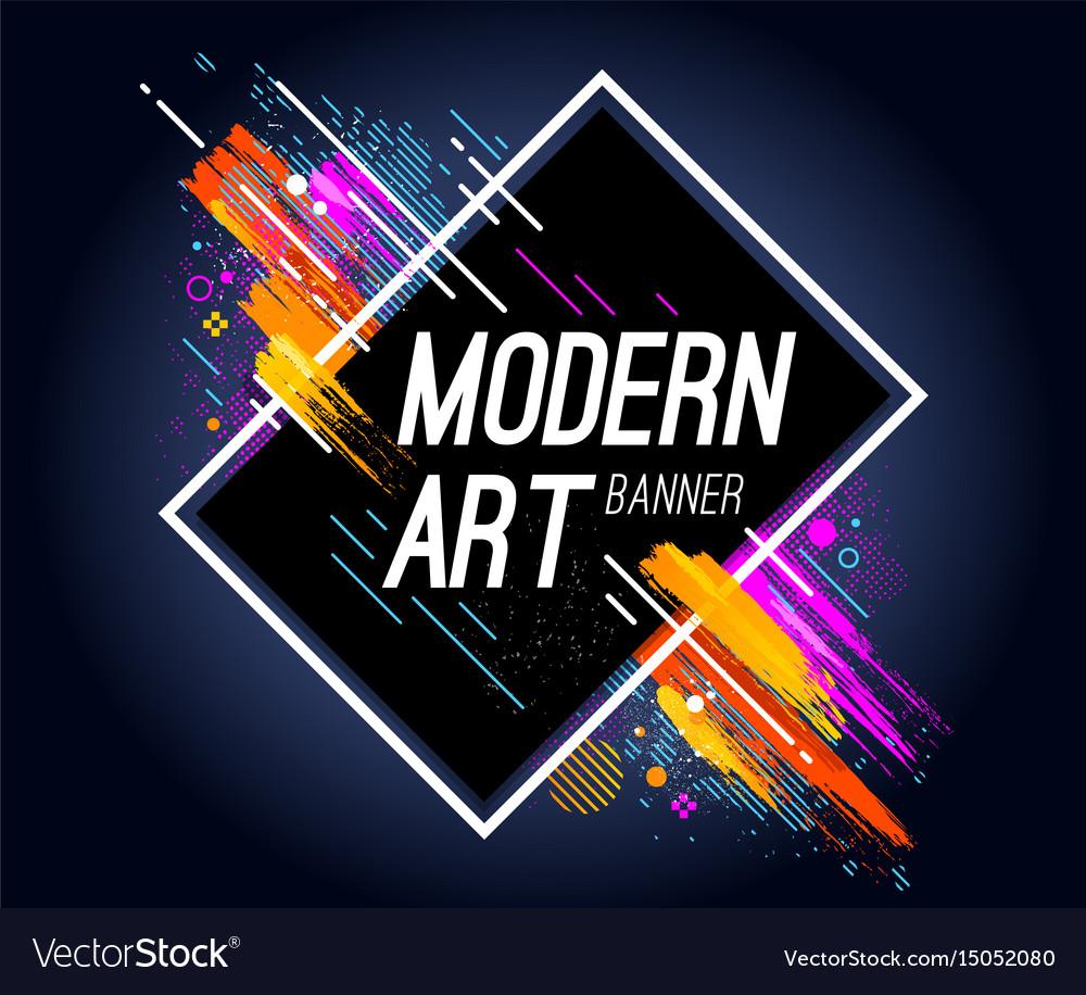 modern art banner royalty free vector image vectorstock