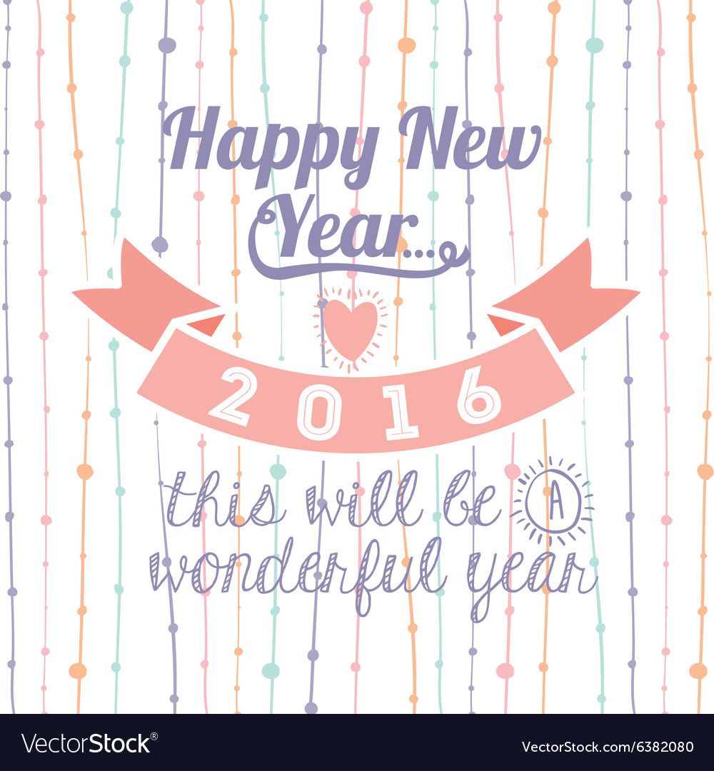 Motivational message new year Royalty Free Vector Image