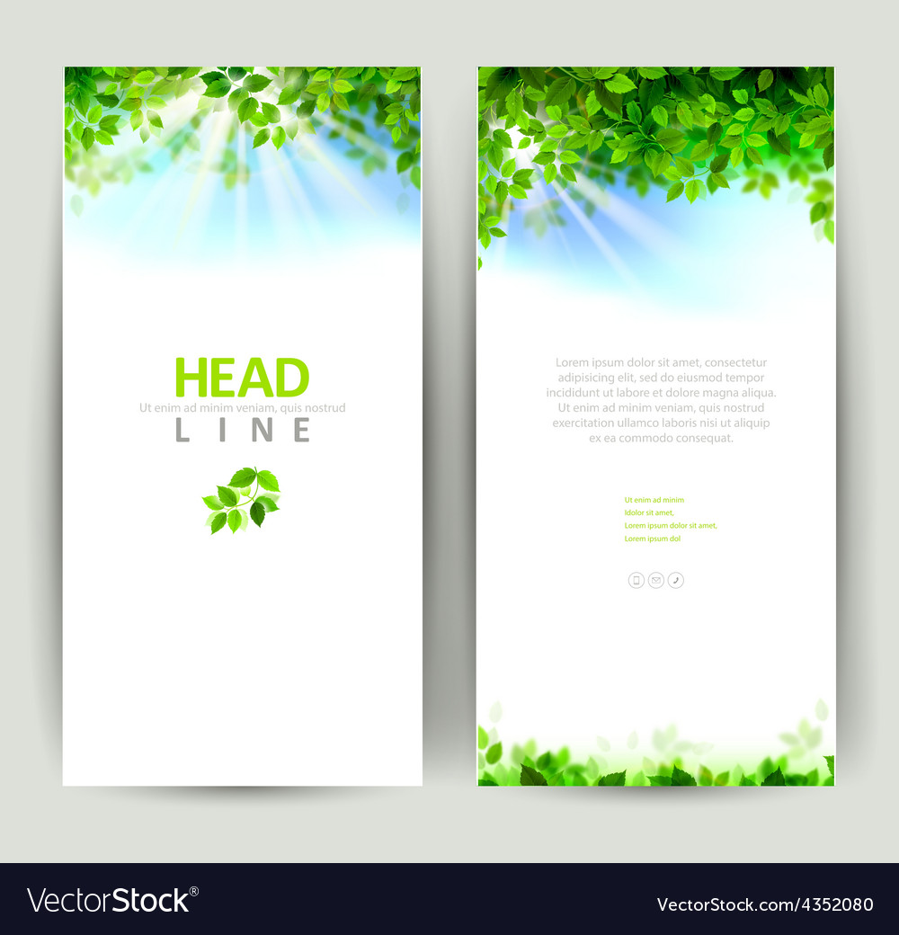 Natures banners vector image