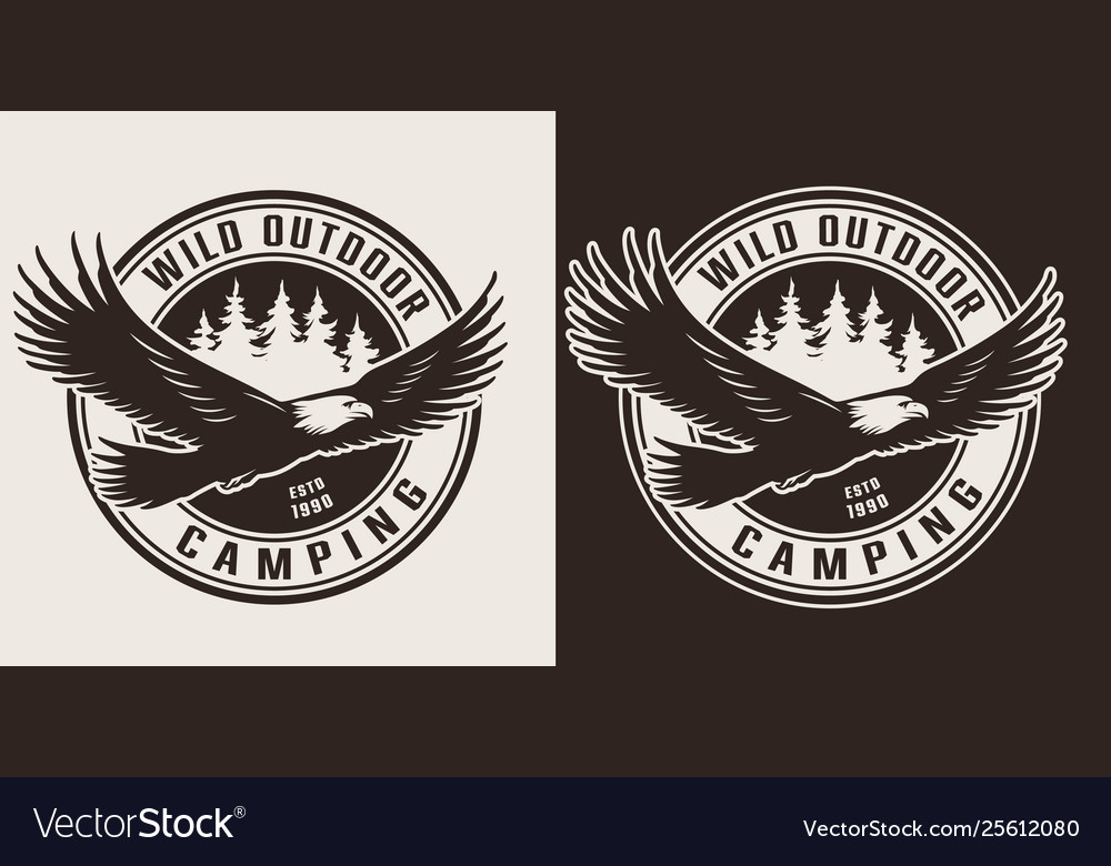 Vintage camping and outdoor recreation label
