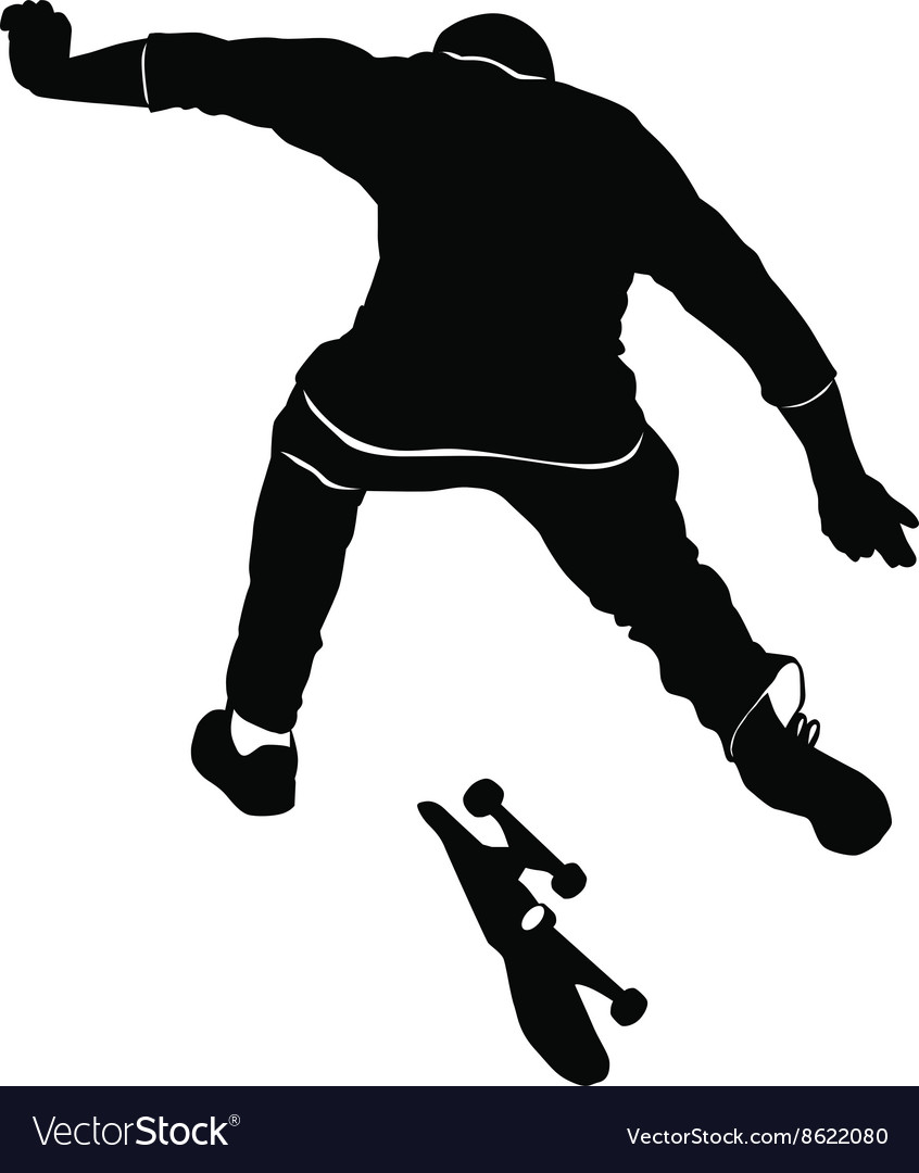 Young man riding a skateboard in black and white t