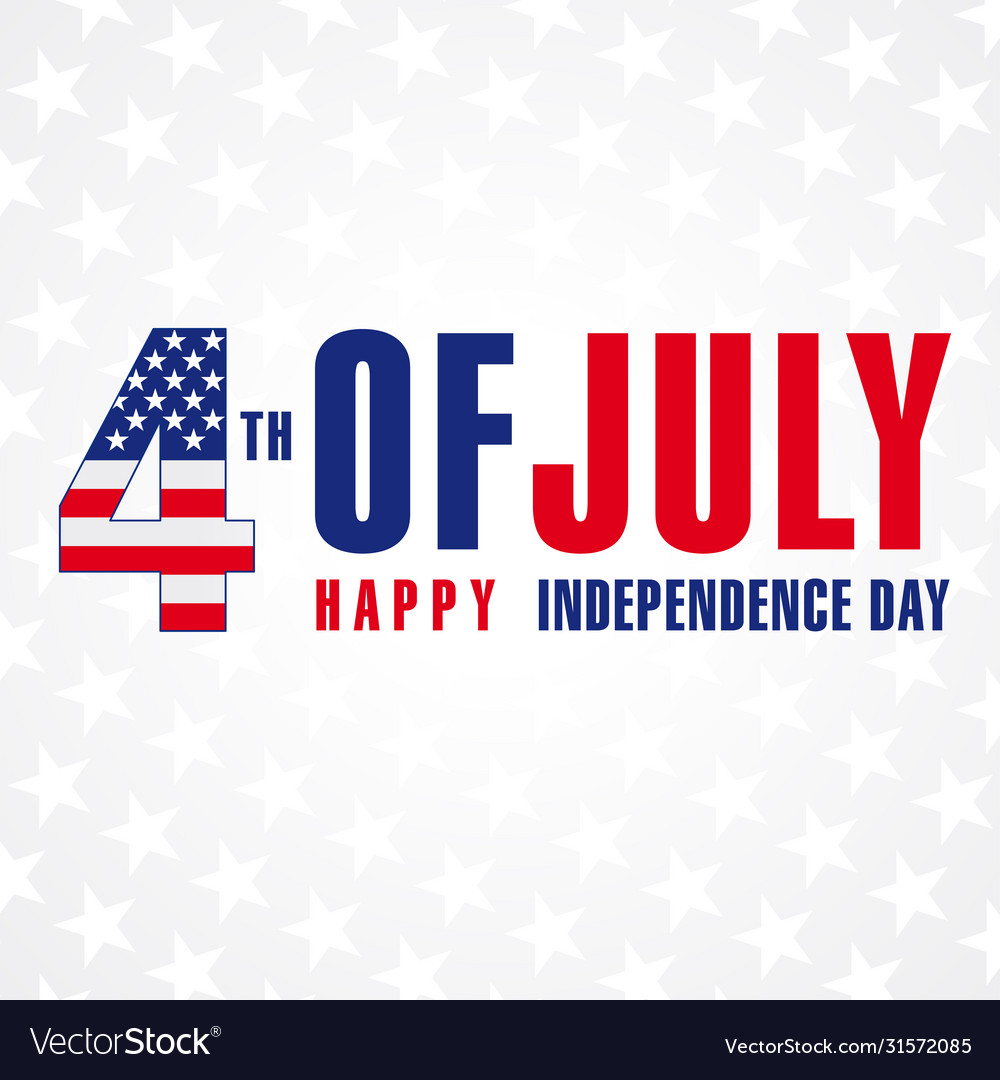 4 july independence day usa banner