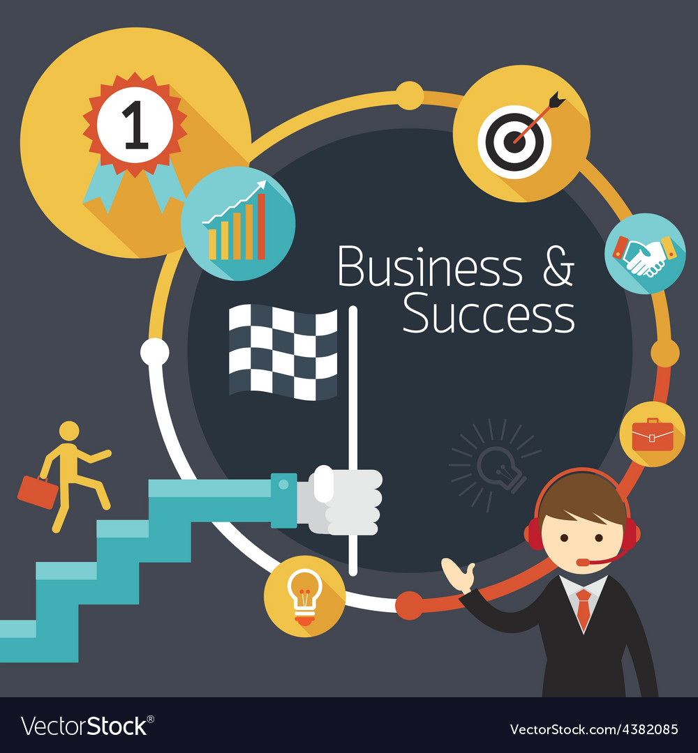 Business Concept Stairway to Success Frame