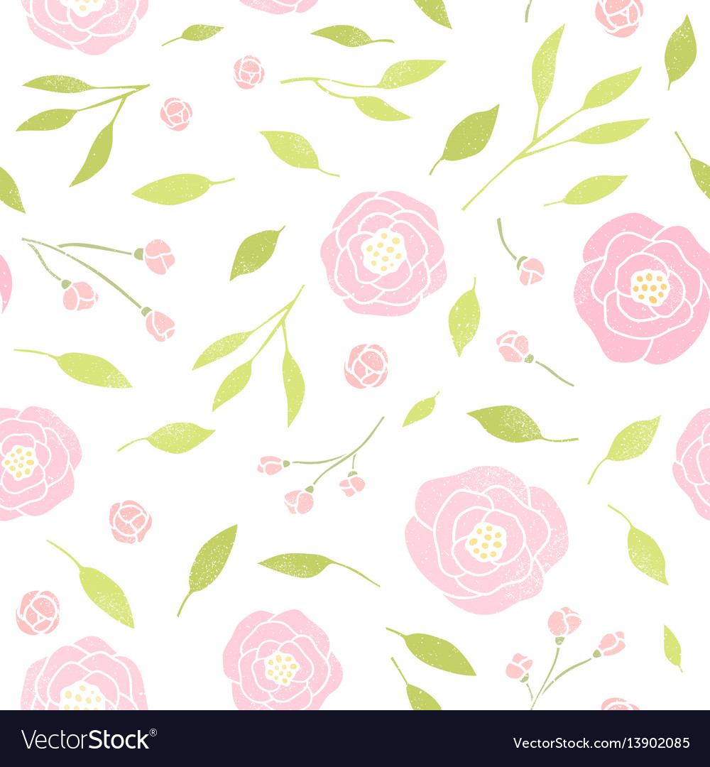 Cute peony and leaves background