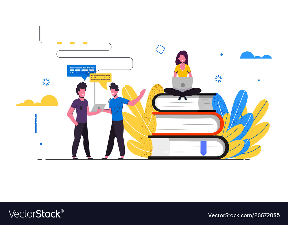 Distance Education Banner Royalty Free Vector Image