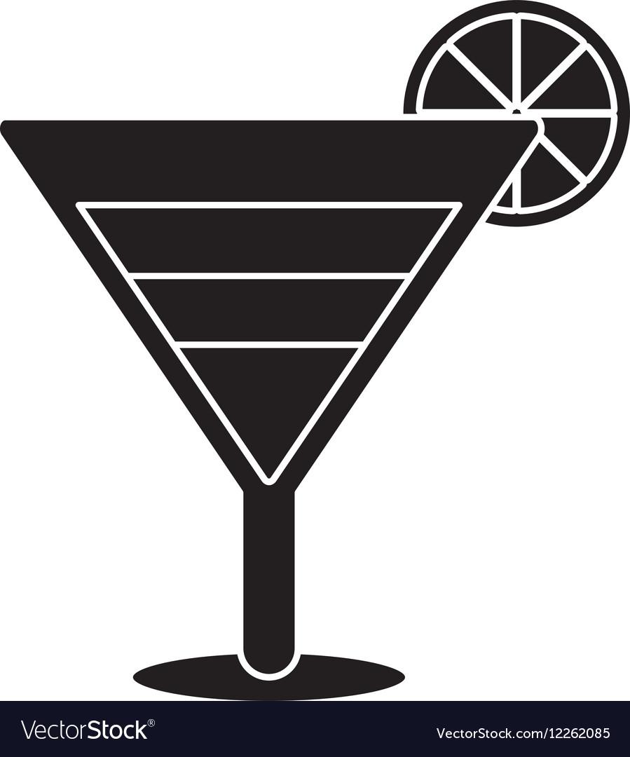 Silhouette soft drink cocktail lemon