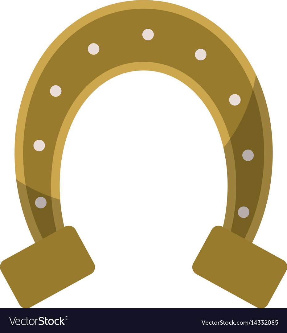 St patricks day horseshoe symbol