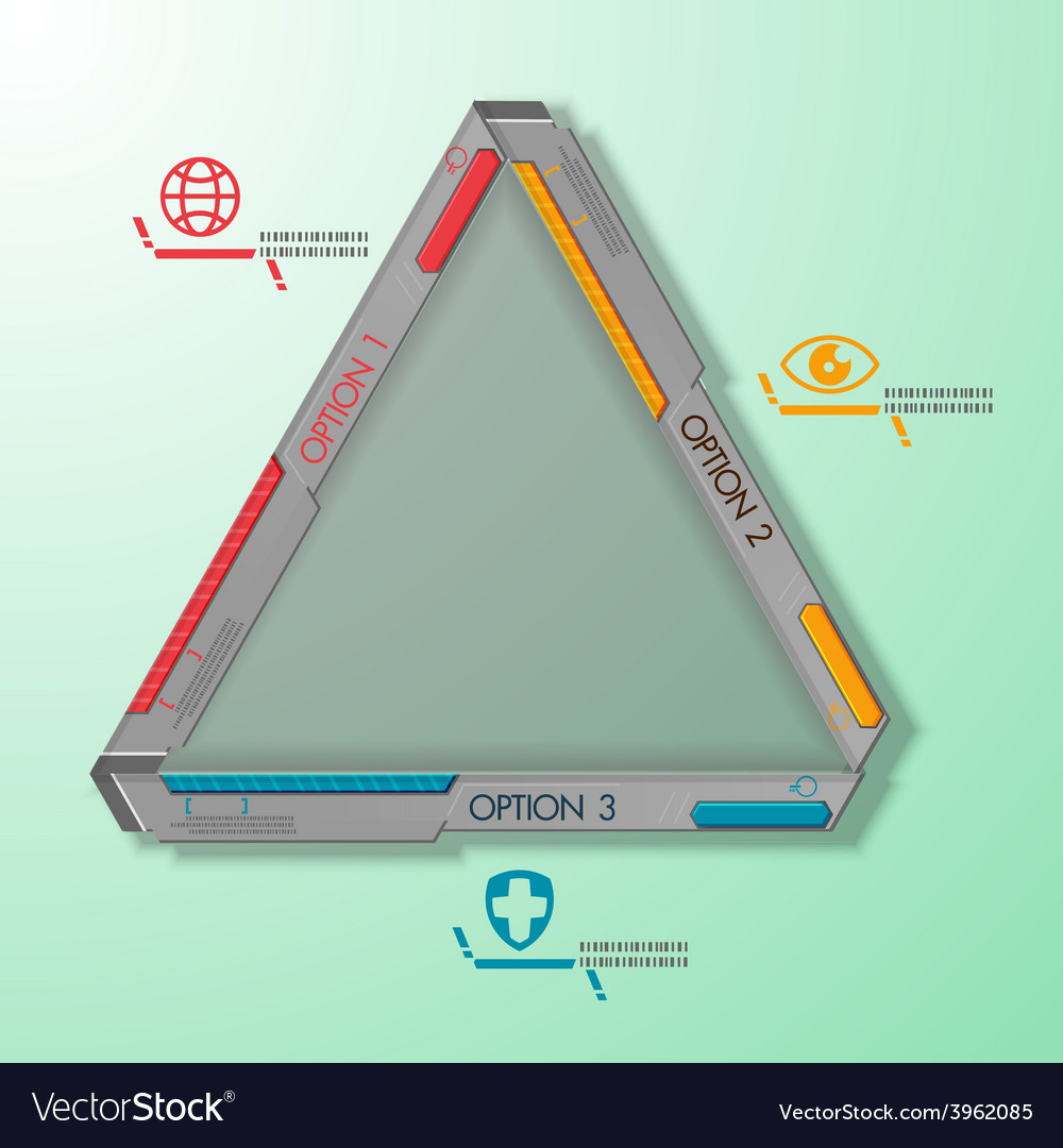 Technology triangle abstract steel machine vector image