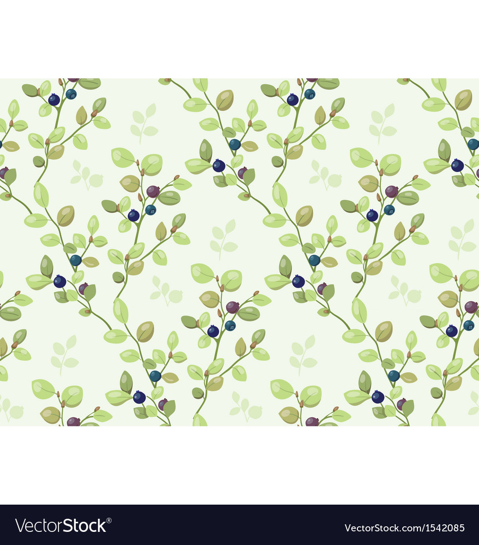 Tiled pattern with blueberry bush
