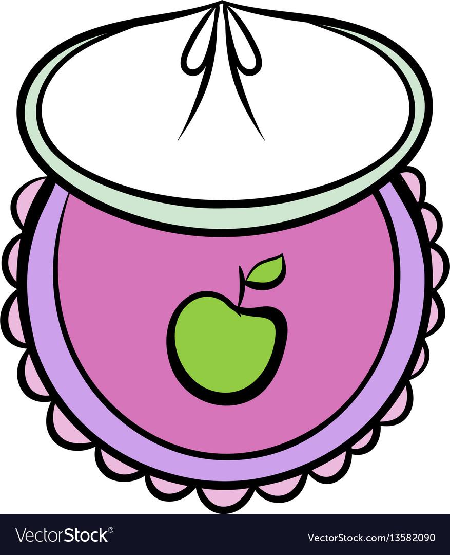 Baby bib icon cartoon