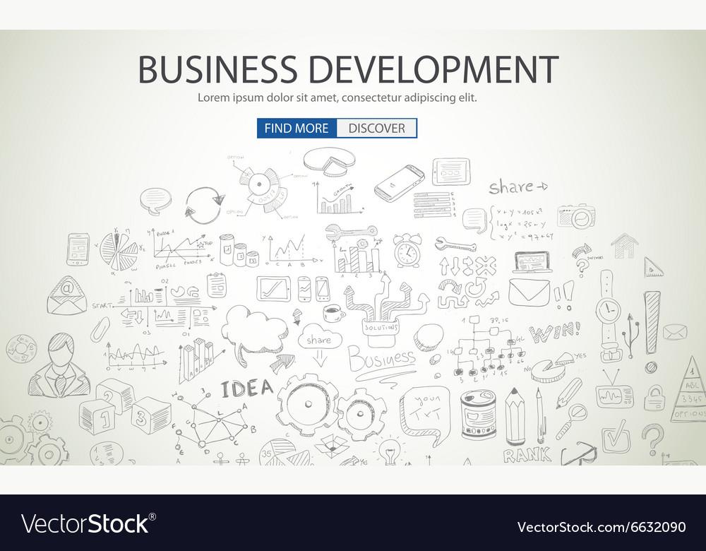 Business Development concept wih Doodle design