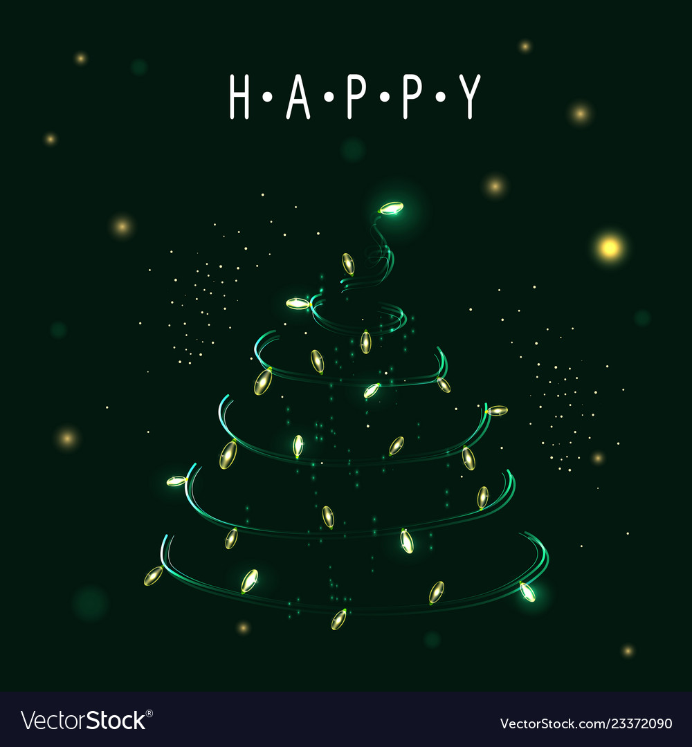 Christmas tree symbol of happy new year