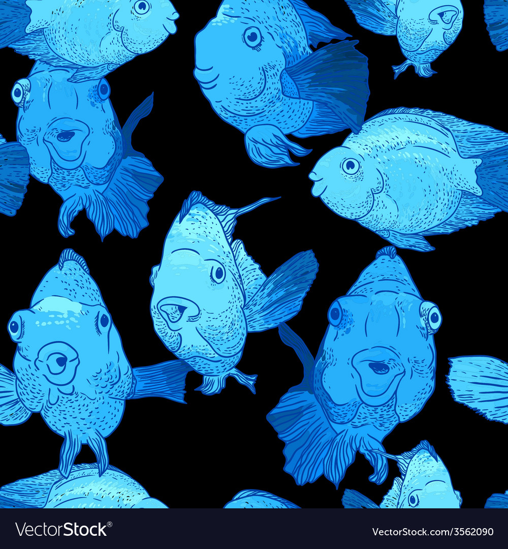Colorful seamless background with fish