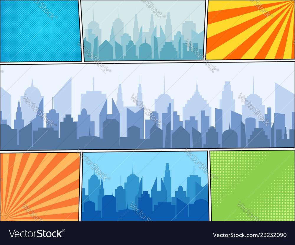 Comic book bright composition