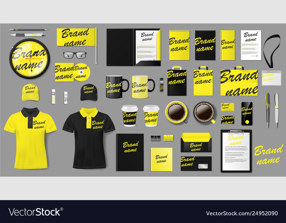 Corporate identity template design branding