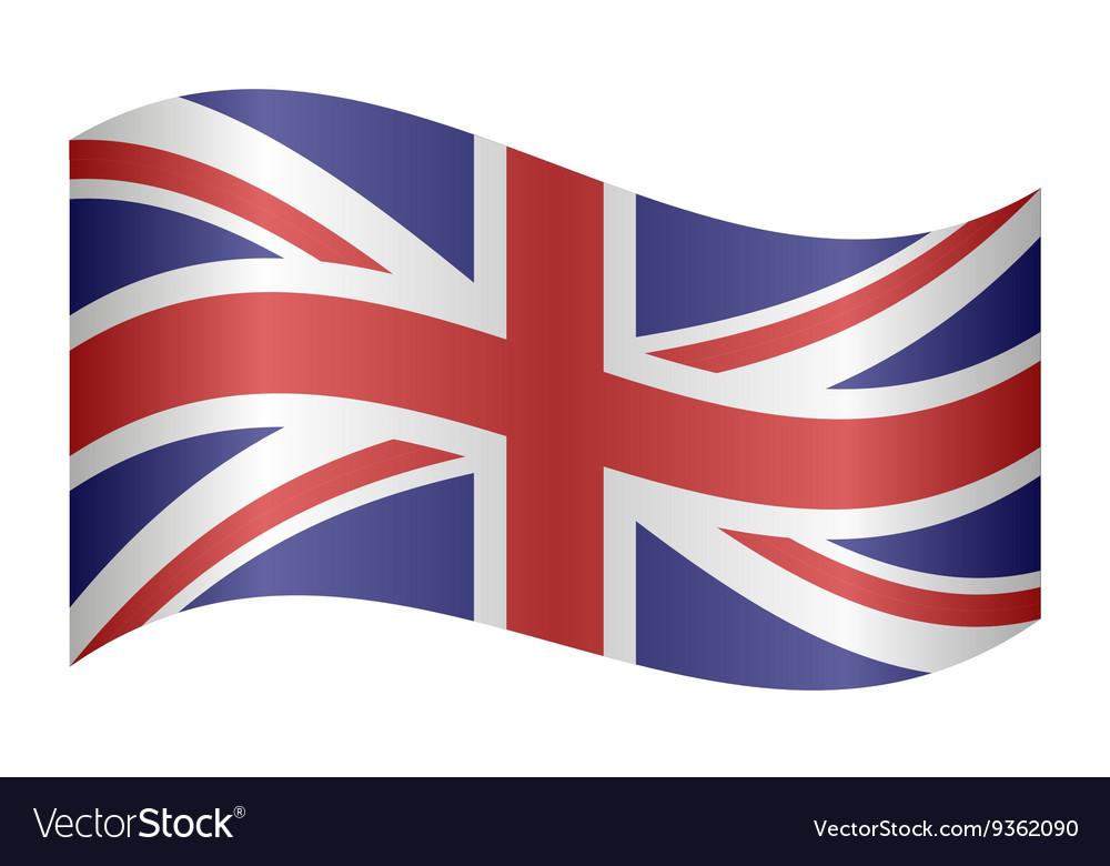 Flag of the United Kingdom waving vector image
