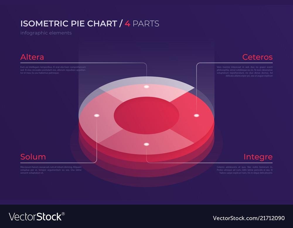 Isometric pie chart design modern template