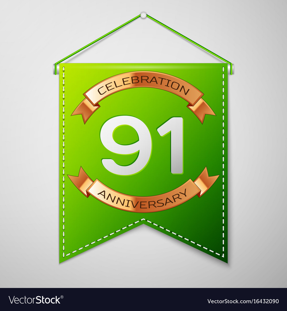 Ninety one years anniversary celebration design