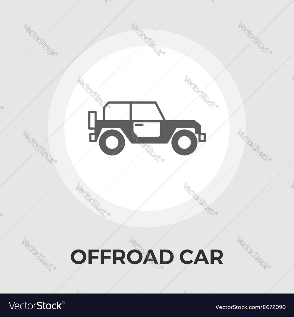Offroad car flat icon