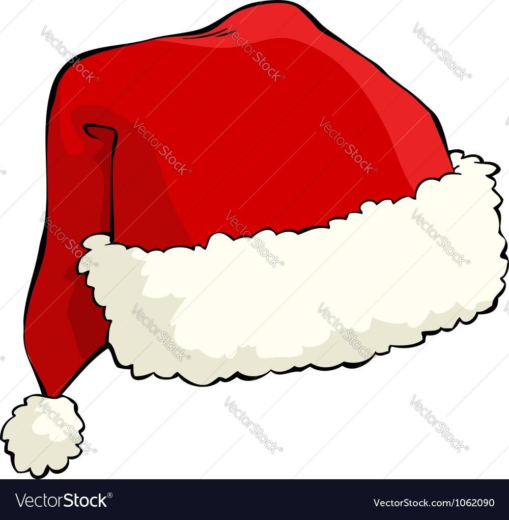 santa hat royalty free vector image vectorstock rh vectorstock com santa hat vector free santa hat vector art