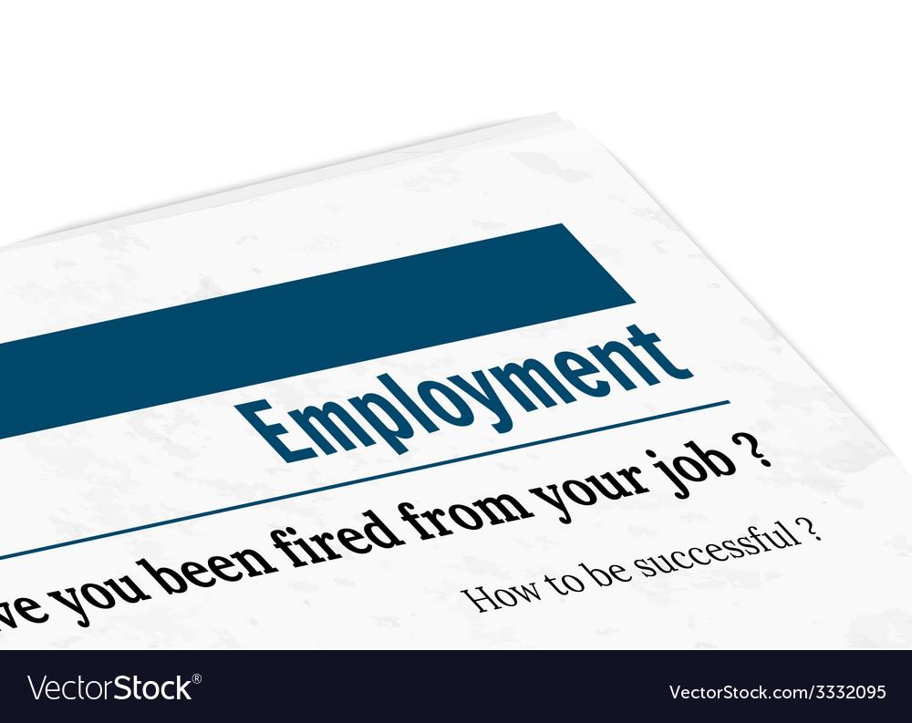 Newspaper - employment